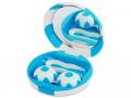 Pouzdra na kontaktní čočky se zrcátkem - Kazetka Fotbalový míč - modrá