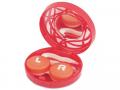 Pouzdra na kontaktní čočky se zrcátkem - Kazetka s ornamentem - červená