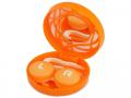 Pouzdra na kontaktní čočky se zrcátkem - Kazetka s ornamentem - oranžová