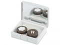 Pouzdra na kontaktní čočky se zrcátkem - Elegantní kazetka - stříbrná