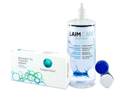 Biomedics 55 Evolution (6 čoček) + roztok Laim Care 400 ml
