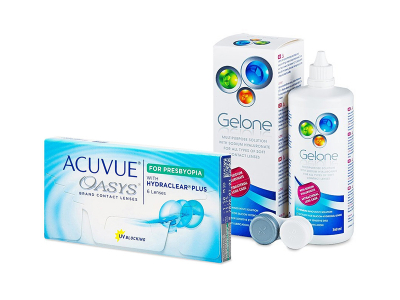 Acuvue Oasys for Presbyopia (6 čoček) + roztok Gelone 360 ml