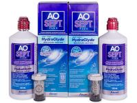 Kontaktní čočky levně - Roztok AO SEPT PLUS HydraGlyde 2 x 360ml