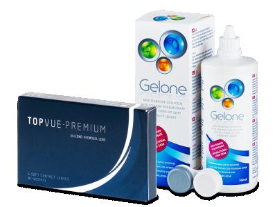 TopVue Premium (6čoček) + roztok Gelone360ml