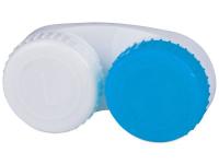 Pouzdra na kontaktní čočky - Pouzdro na čočky modro-bílé L+R