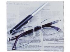 Čistící hadřík na brýle - noviny