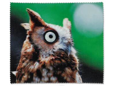 Čistící hadřík na brýle - sova