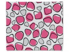 Čistící hadřík na brýle - růžová a bílá