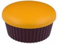 Příslušenství k čočkám - Kazetka se zrcátkem Muffin - oranžová
