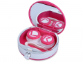 Pouzdra na kontaktní čočky se zrcátkem - Kazetka se zrcátkem Flakon - růžová