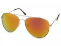 Sluneční brýle - Sluneční brýle Silver Aviator - Pink/Orange