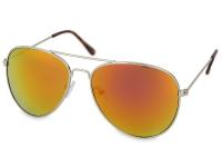 Sluneční brýle - Sluneční brýle Silver Pilot - Pink/Orange