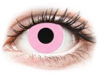 Crazy barevné kontaktní čočky - CRAZY LENS - Barbie Pink - dioptrické jednodenní