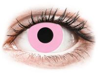 Barevné kontaktní čočky - CRAZY LENS - Barbie Pink - dioptrické jednodenní
