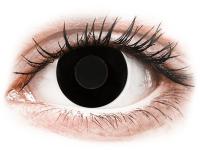 Barevné kontaktní čočky - CRAZY LENS - Black Out - dioptrické jednodenní