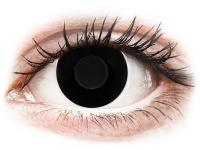 Crazy barevné kontaktní čočky - CRAZY LENS - Black Out - nedioptrické jednodenní