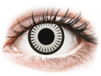 Barevné kontaktní čočky - CRAZY LENS - Byakugan - nedioptrické jednodenní