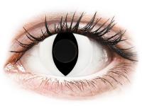 Crazy barevné kontaktní čočky - CRAZY LENS - Cat Eye White - nedioptrické jednodenní