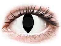 Barevné kontaktní čočky - CRAZY LENS - Cat Eye White - nedioptrické jednodenní