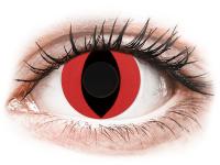 Barevné kontaktní čočky - CRAZY LENS - Cat Eye Red - nedioptrické jednodenní
