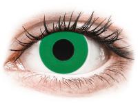 Barevné kontaktní čočky - CRAZY LENS - Emerald Green - nedioptrické jednodenní