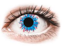 Barevné kontaktní čočky - CRAZY LENS - Harlequin - dioptrické jednodenní