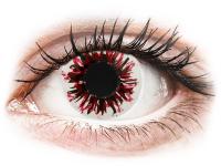 Crazy barevné kontaktní čočky - CRAZY LENS - Harlequin Black - nedioptrické jednodenní