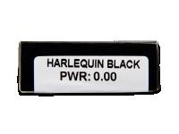 CRAZY LENS - Harlequin Black - nedioptrické jednodenní (2 čočky)