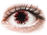 Barevné kontaktní čočky - CRAZY LENS - Harlequin Black - dioptrické jednodenní