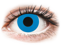 Crazy barevné kontaktní čočky - CRAZY LENS - Sky Blue - nedioptrické jednodenní