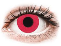 Barevné kontaktní čočky - CRAZY LENS - Solid Red - dioptrické jednodenní