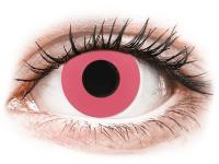 Barevné kontaktní čočky - CRAZY LENS - Solid Rose - dioptrické jednodenní