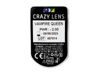 CRAZY LENS - Vampire Queen - dioptrické jednodenní (2 čočky)
