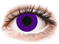 Barevné kontaktní čočky - CRAZY LENS - Solid Violet - dioptrické jednodenní
