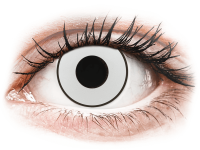 Barevné kontaktní čočky - CRAZY LENS - White Black - nedioptrické jednodenní