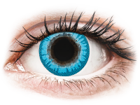 Barevné kontaktní čočky - CRAZY LENS - White Walker - dioptrické jednodenní