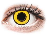 Crazy barevné kontaktní čočky - CRAZY LENS - Yellow Twilight - dioptrické jednodenní