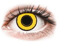 Barevné kontaktní čočky - CRAZY LENS - Yellow Twilight - dioptrické jednodenní