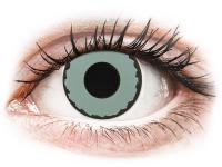 Crazy barevné kontaktní čočky - CRAZY LENS - Zombie Virus - dioptrické jednodenní