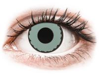 Barevné kontaktní čočky - CRAZY LENS - Zombie Virus - dioptrické jednodenní