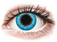 Barevné kontaktní čočky - CRAZY LENS - White Walker - nedioptrické jednodenní