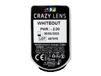 CRAZY LENS - WhiteOut - dioptrické jednodenní (2 čočky)