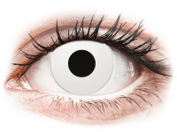 Barevné kontaktní čočky - CRAZY LENS - WhiteOut - dioptrické jednodenní