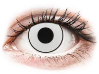 Crazy barevné kontaktní čočky - CRAZY LENS - White Black - dioptrické jednodenní