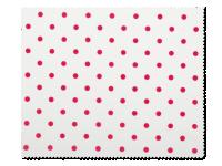 Příslušenství k čočkám - Čistící hadřík na brýle - červené puntíky