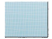 Příslušenství k čočkám - Čistící hadřík na brýle - světle modrý s mřížkou