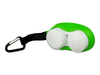 Pouzdra na kontaktní čočky - Pouzdro na čočky s karabinkou zelené
