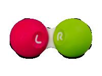 Pouzdra na kontaktní čočky - Pouzdro na čočky SG růžovo-zelené