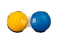 Pouzdra na kontaktní čočky - Pouzdro na čočky SG žluto-modré