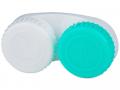 Pouzdra na kontaktní čočky - Pouzdro na čočky zeleno-bílé se znaky L+R